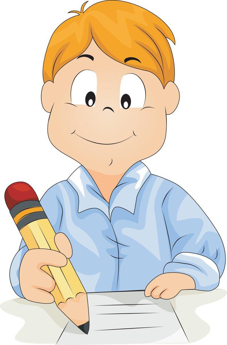 Картинка человек пишет для детей